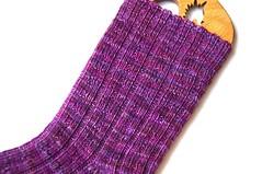 t4s ms stained sock leg (thing4string) Tags: knit knitting handknit handknitting sock socks ribbing athingforstring merino wool nylon merinosock