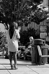 At Broadway and Kearny (draketoulouse) Tags: sanfrancisco street streetphotography people monochrome blackandwhite dancer hustler kearny broadway northbeach california ca city urban adult club stripclub women woman