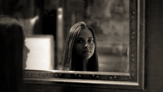 Mirror Mirror on the Wall (robdando) Tags: mirror girl reflection nikon d500 look glance appearance expression aspect gaze peep glare glimpse prevue teenager lass daughter youngster mademoiselle