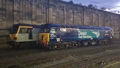 Class 92 & 57 At Carlisle (Uktransportvideos82) Tags: class92 class57 drs directrailservices