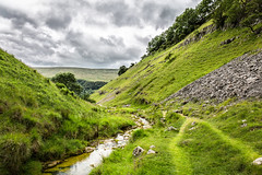 Where The Paths Meet (jamesromanl17) Tags: valley hillside mountain countryside rollinghills stream water canon eos 5d markiii yorkshire dales buckden england britain landscape landscapes sky skies clouds cloud cloudscape cloudy path walk walking