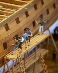 A detail of a model of the shipyard at Holmen at Springeren Maritimt oplevelsescenter, 16. september 2017. Foto: Per Ryolf (perryolf) Tags: fotoperryolf aalborg springerenmaritimtoplevelsescenter ubåd mtb torpedobåd ship ships schiff schiffe skibe skib marinemuseum