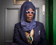 Portrait of a Stranger (XBeauPhoto) Tags: london blackman candid door doorway homeless incognito marginalised portrait rastafarian stranger streetphoto streetphotography sunglasses urban