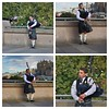 Piper Collage (FotoFling Scotland) Tags: piper kilt mound edinburgh collage bagpipe musician
