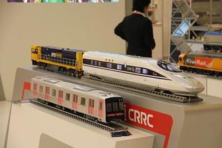 CRRC company stand , TRAKO Railway Fair , Gdańsk 29.09.2017