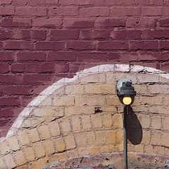 bulb on brick (msdonnalee) Tags: brickwall minimalism minimalismo minimalisme lightbulb lightfixture shadow schatten ombre sombra wall
