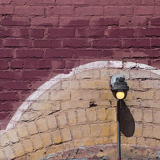 bulb on brick