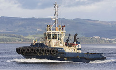 SVITZER MILFORD (fordgt4040) Tags: vessel ship boat nautical tugboat firthofclyde greenock clyde nikon nikond7200 digitalcamera sigmalens underway svitzermilford scotland inverclyde