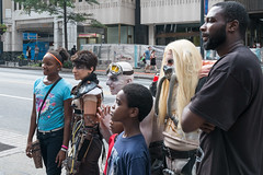 The Family That Dragon Cons Together (jwcjr) Tags: atlantaga atlantapeople dragoncon dragoncon2015 people atlanta costume child man woman fuji