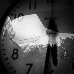 clock/時計 (s_inagaki) Tags: clock tokyo snap monochrome blackandwhite bnw bw 時計 東京 スナップ モノクロ 白黒