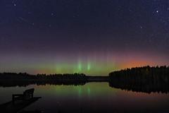 Aurora borealis (tiitkbi) Tags: auroraborealis lake forest
