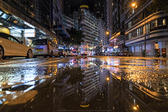 Hong Kong Tramways Mirror (mikemikecat) Tags: hktramways 香港 nightscape night road building twilight cityscapes carlzeiss a7r sony street urban 夜景 建築 城市 architecture tramway tram 路 reflection mirror station mikemikecat 電車 wanchai 灣仔 sel1635z fe1635mm