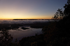 A Pikes Peak Sunrise (joeldinda) Tags: pikespeak mississippi fog daybreak sunrise prairieduchene mcgregor jowophoto lumix raw 271365