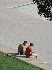 Two lads chat at Quai de la Daurade, Toulouse, France (Paul McClure DC) Tags: toulouse france languedoc occitanie occitania july2017 people sexy male