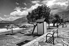 Beach (++Rob++) Tags: greece griekenland crete kreta pacchiaammos zwartwit blackwhite beach strand zee sea