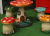 Fairy garden table and stools (crafty1tutu (Ann)) Tags: travel holiday 2017 unitedkingdom uk wiltshire wilton garden mushroom mushroomtableandstools fairygarden crafty1tutu canon5dmkiii canon24105lserieslens anncameron