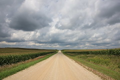 Country Roads . . . (doc030395) Tags: iowa worthcounty countryroads summer hayfields corn august clouds drama