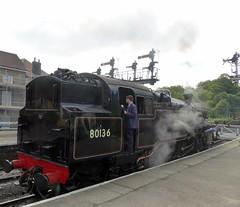 2017-07-29 - P1050239 - NYMR - 80136 at Grosmont (GeordieMac Pics) Tags: nymr locomotive steam engine geordiemac panasonic lumix dmc fz200 grosmont uksteam ©2017georgemcvitieallrightsreserved 80136