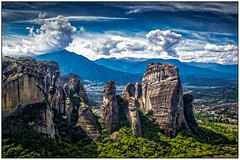 Landscape (Peter Leigh50) Tags: landscape greece meteora mountains hill trees sky clouds scenic tourist holiday sunshine rocks canon powershot g12 paysage landschaft