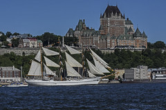 Tall Ship Guayas in Quebec (A.Joseph Images) Tags: ship tallship boat sail quebec canada water sky blue vacation landscape scenery