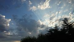 Smile on Saturday!:) (Catch the Sun) (quietpurplehaze07) Tags: smileonsaturday catchthesun rays sun sunset clouds blue