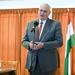 Aradszki András, Törökbálint kereszténydemokrata országgyűlési képviselője mond beszédet Törökbálint új városközpontjának alapköletételi ünnepségén