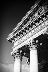 Black and White in Bank City of London portrait architecture (Lex Photographic) Tags: black white bw rammstein architecture columns column city london bank