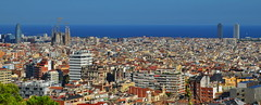 Barcelona Panorama (gerard eder) Tags: world travel reise viajes europa europe spain españa spanien barcelona panorama ciudades city cityscape cityview städte stadtlandschaft outdoor skyline