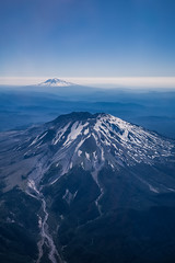 Mt St Helens (robertdownie) Tags: air sky mountains volcano blue aerial snow mount mountain ice glacier peak volcanic layers montain sea clouds ridges mountainscape loowit usa washington cascades pnw pacific north west mt adams st helens lawetlatla cascade ranges us arc
