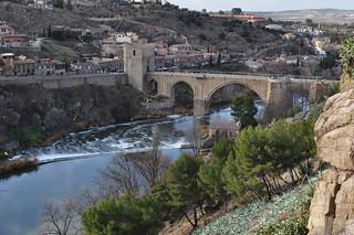 Pont de St Martin (XIVe) sur le Tage, Tolède, Castille-La Manche, Espagne.