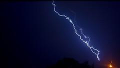 Lightning strike (aaronchurch) Tags: lightning lightningstrike lightningbolt bolt nature mothernature planetearth bright beautiful