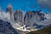 The majestic Torres del Paine, Patagonia, Chile (Peraion) Tags: torresdelpaine patagonia chile southamerica rocks cliffs clouds rugged