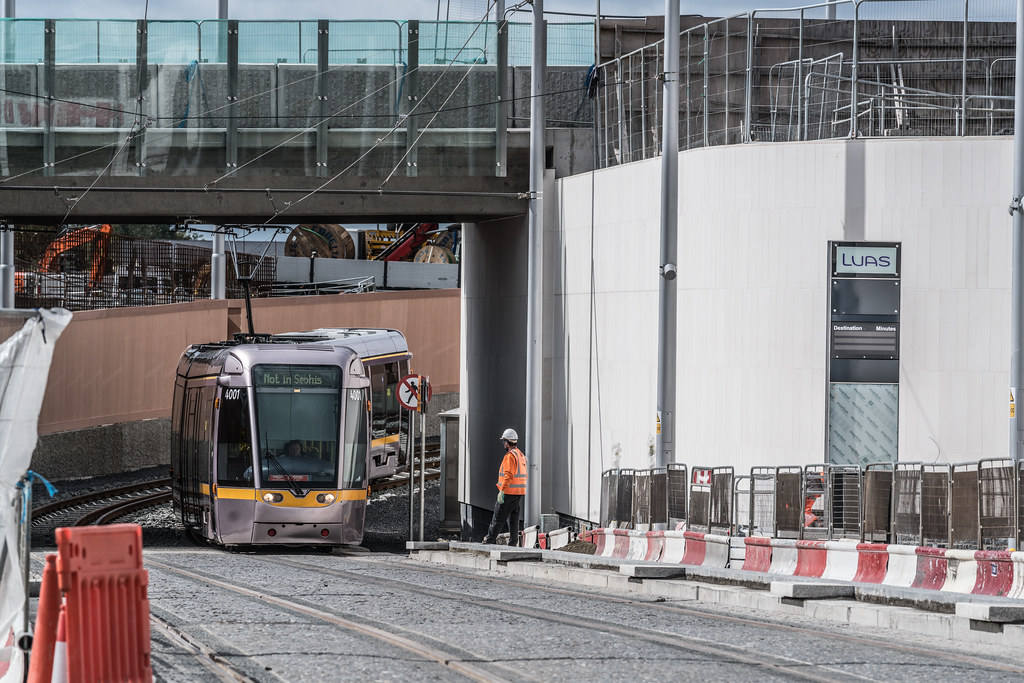 THE NEW LUAS TRAM STOP AT BROADSTONE [TESTING PHASE UNTIL EARLY DECEMBER]-1324698