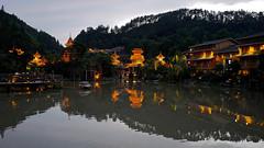 Zhaoxing (Gilles Daligand) Tags: chine china guizhou zhaoxing entrée village illuminations rivière heurebleue leica q eau