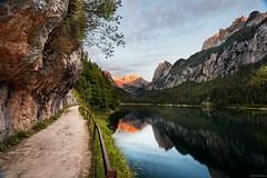 sunset Gosausee / Dachstein (StaHarry) Tags: ef16354lis 5dmarkiii 5d3 sunset sonnenuntergang spiegelung reflection dachstein gosausee