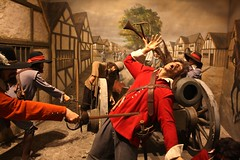 Pembroke Castle - July 2017 - Bloody Tableau (Gareth1953 All Right Now) Tags: pembroke castle tableau englishcivilwar roundheads cavaliers murder blood slaughter cannon red