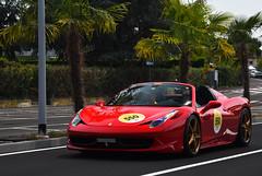 Ferrari 458 Spider (MarcoT1) Tags: ferrari 458 spider italy sirmione mille miglia tribute 2017 nikon d5600
