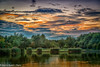 The end of the day (martin.baskill) Tags: rushcliffecountrypark lake water sunset orange sky landscape trees reflection colorsinourworld