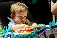 Birthday Boy 8 (kelly.palzer) Tags: family first birthday cake canon canonrebelt5