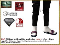 Bliensen - Zef - sliders for M - blue (Plurabelle Laszlo of Bliensen + MaiTai) Tags: sliders sandals hiphop beachwear streetwear rapper secondlife yolo sl bliensen shoes