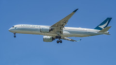 Cathay Pacific A350XWB B-LRA (Anthony Kernich Photo) Tags: cathaypacific cpa cathay hongkong airbus a350xwb airbusa350 widebody a350 singapore changi changiairport airplane aircraft airplanepicture airplanephotograph airplanephoto commercialaviation plane aviation jet olympusem10 olympus olympusomd planespotting planespot aeroplane flight flying airline airliner raw singaporechangiairport wsss air oneworld blra