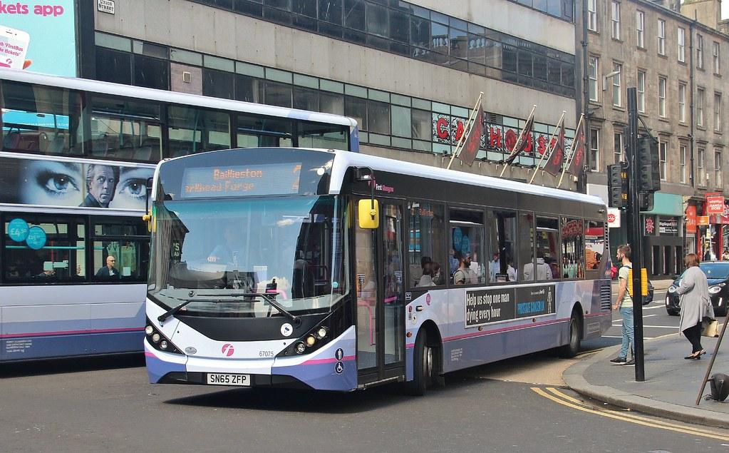 SN65 ZFP, First ADL Enviro 67075, Glasgow, 17th. August 2017. (