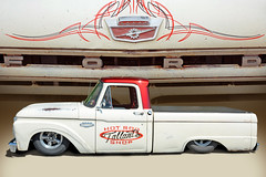 How low can it go? - 1965 Ford F100 (Brad Harding Photography) Tags: 1965 65 ford fordmotorcompany bonnersprings kansas carshow truck utility pickup tiblowdays lowrider restoration restored ratrod tallantshotrodshop f100