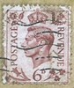 UK 6d Postage Stamp - George VI (Ray's Photo Collection) Tags: postagestamp 6d postage stamp timbre briefmarke uk royalmail george vi