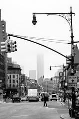 WTC Detour (Tijmon Kater) Tags: flickr newyork tijmonkater traffic road outdoor blackandwhite bw nikon nikkor nyc greenwichvillage avenue urban us usa streetphotography street detour 1870mmf3545g city cityscape d7000 manhattan monochrome trafficlight