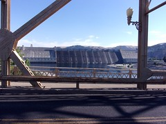Grand Coulee Dam from bridge across Columbia at Coulee City (theslowlane) Tags: 2017trip 2017 centralwashington damsandpower grandcoulee