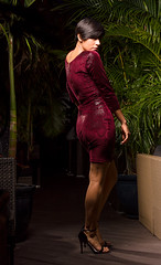 Vivid Couture (jerseytom55) Tags: red pentax645z priolite fashion snakeskin nyfw runway drama danger vividcoutureinc backshot molasetti