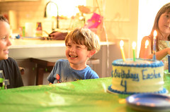 232/365 (moke076) Tags: 2017 365 project 365project project365 oneaday photoaday nikon d7000 e nephew boy kid child natural light birthday four 4th cake candles lit singing smiling laughing happy