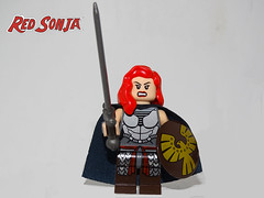RED SONJA QUEEN OF PLAGUES (501st DESIGNS) Tags: red sonja she devil with sword comic marvel animated plague queen head lego custom minifigure