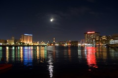 Colorful reflections in Dubai creek........ (ravijaichand) Tags: colors color moonlight moon dubai reflections waterscape nightscape cityscape night sky river city skyline waterfront water